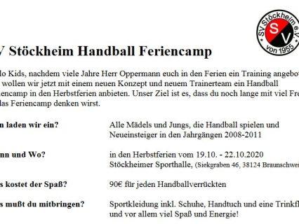 Handball Feriencamp in den Herbstferien
