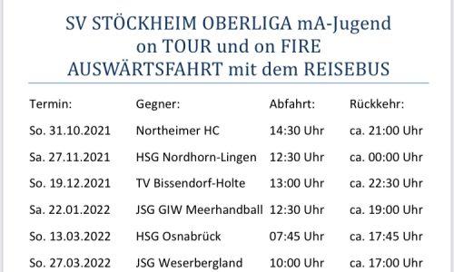 SV STÖCKHEIM OBERLIGA mA-Jugend on TOUR und on FIRE